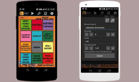 Aplikacja TUiT - notuj wszystko
